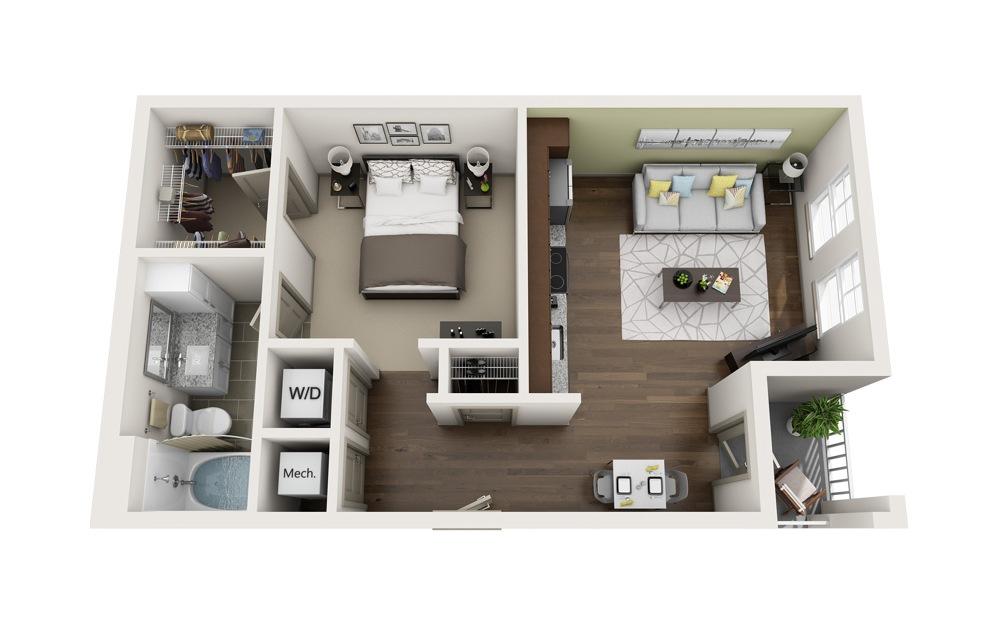 S1 Studio bedroom 1 bath 594 square feet